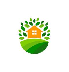 Home farm logo icon design vector