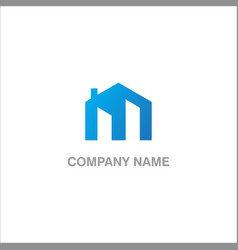 home m initial logo vector image