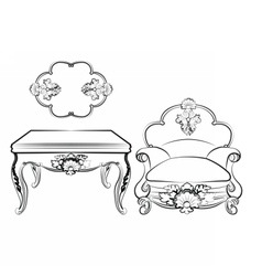 Imperial Royal Set with ornaments vector image