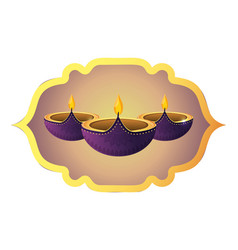 Indian candles decoration vector