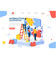 interactive automation concept vector image