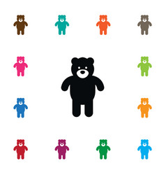 isolated bear icon plush element can be vector image