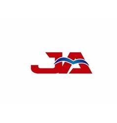 JA Logo Graphic Branding Letter Element vector