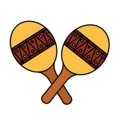 Maracas musical instrument icon vector