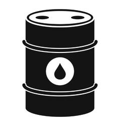 Metal oil barrel icon simple style vector
