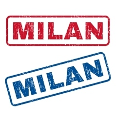 Milan Rubber Stamps vector