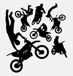 Motocross sport silhouettes vector