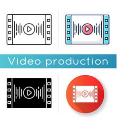 Music video icon vector
