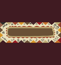 native tribe art ornament frame vector image