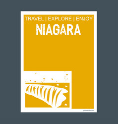 niagara ontario canada monument landmark brochure vector image