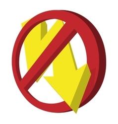 No photo flash sign icon cartoon style vector