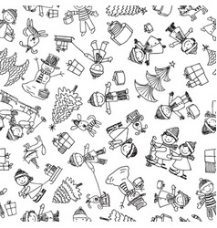 pattern of the cheerful children in the vector image