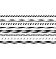 ropes pattern brushes vector image