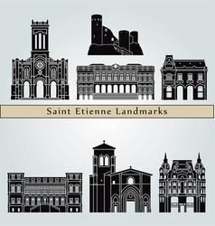 saint etienne landmarks vector image