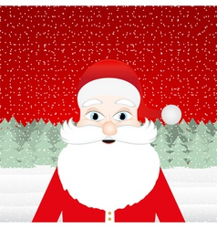 Santa Claus in a Christmas forest vector image