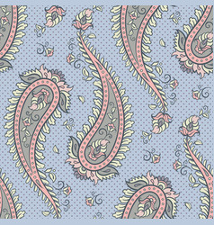 Seamless pattern paisley ornamental background vector