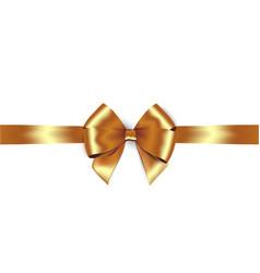 shiny golden satin ribbon isolate gold bow vector image