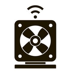 smart air fan icon simple style vector image
