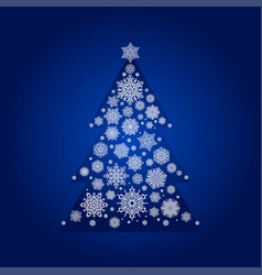 snowflake season nature winter snow fir-tree card vector image
