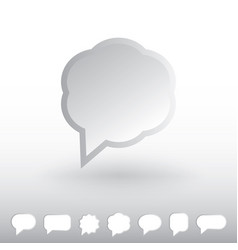 Speech bubble iconubbles vector