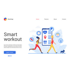 Sport training app for people vector