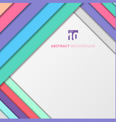 template abstract geometric pastel color vector image