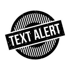 text alert rubber stamp vector image