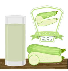 The theme zucchini vector