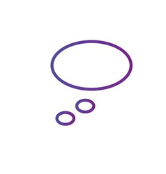 thinking or dream linear bubble icon isolated on vector image