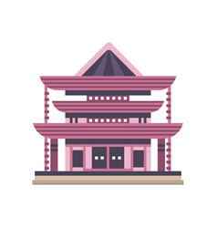 traditional asiann pagoda building vector image