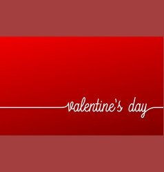 valentines day banner red linear valentines day vector image