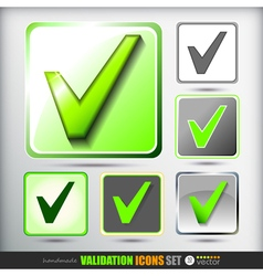 Validation icons set vector image