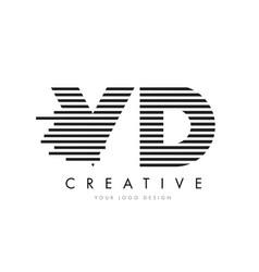 vd v d zebra letter logo design with black and vector image