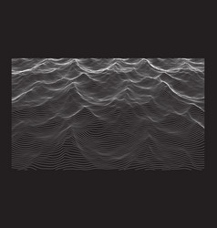 wavy digital backgound made lines line art vector image