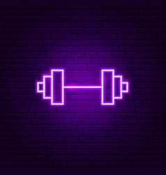 weight gym neon sign vector image