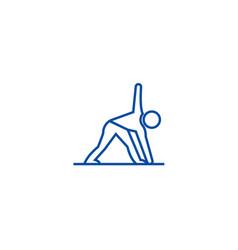 yoga man line icon concept yoga man flat vector image