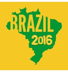Brazil background template vector image