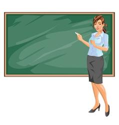 Female Teacher vector image