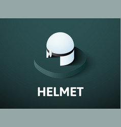 helmet isometric icon isolated on color vector image