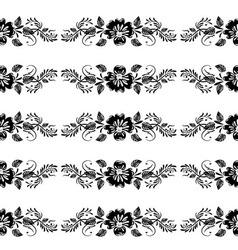 Vintage Floral Border vector image vector image