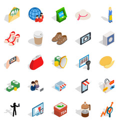 womankind icons set isometric style vector image