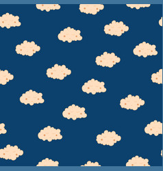 beautiful seamless pattern with cute sleeping vector image vector image