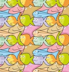 fish puzzle vector image