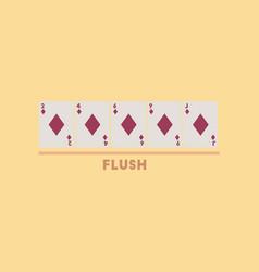 flat icon on stylish background poker flush vector image