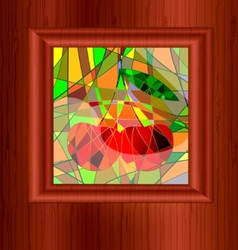 wood and stained glass vector image vector image