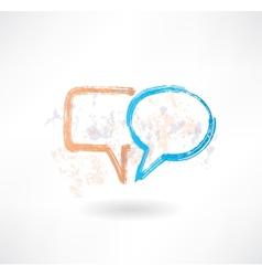 Brush empty speech bubbles icon vector image vector image