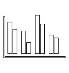 Financial analysis chart icon outline style vector image vector image