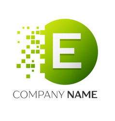 letter e logo symbol in the colorful circle vector image