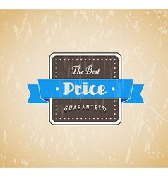 Retro vintage label with grunge background and vector image