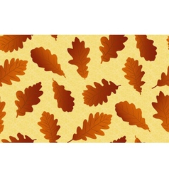 Seamless background with oak leaves vector image